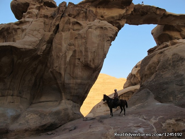 Badia Tours & Stables - Desert scenery / arch (#16 of 25) - Horseriding in Wadi Rum Desert with Arabian horses