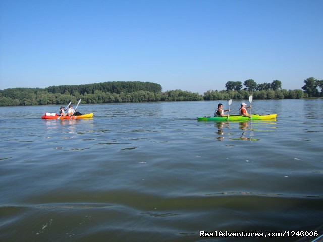 Paddeling downstream on Danube - Danube Delta Kayak Tour, 3days/2nights, 2015