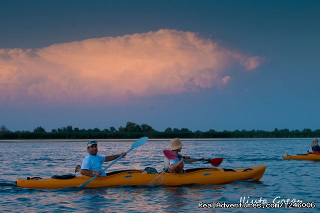 In the evening the storm is coming - Danube Delta Kayak Tour, 3days/2nights, 2015