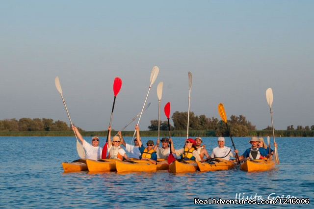 Big happy group - Danube Delta Kayak Tour, 3days/2nights, 2015