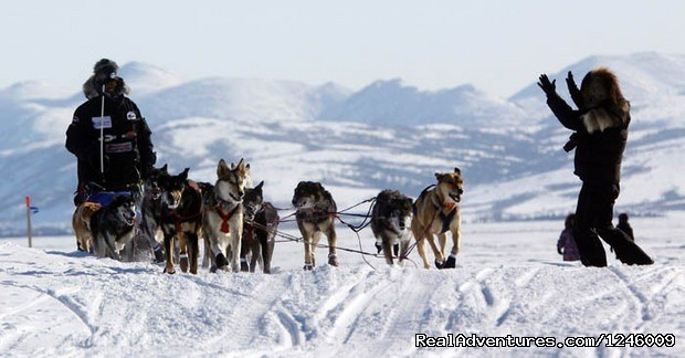 Lance Mackey arrives in Unalakleet - Iditarod Sled Dog Race Tours & Arctic Adventure