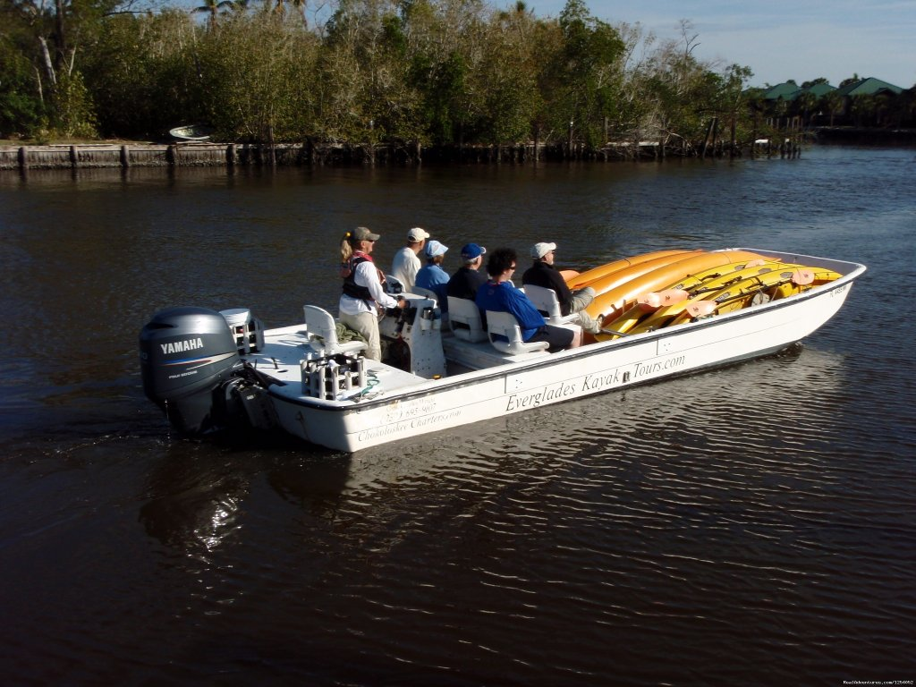 Everglades Area Tours opens the remote areas of Everglades National Park to the average person on our signature tour! Our most popular eco-adventure, the Boat Assisted Kayak ECO Tour combines the best of a boat tour, a kayak tour and a walking tour.
