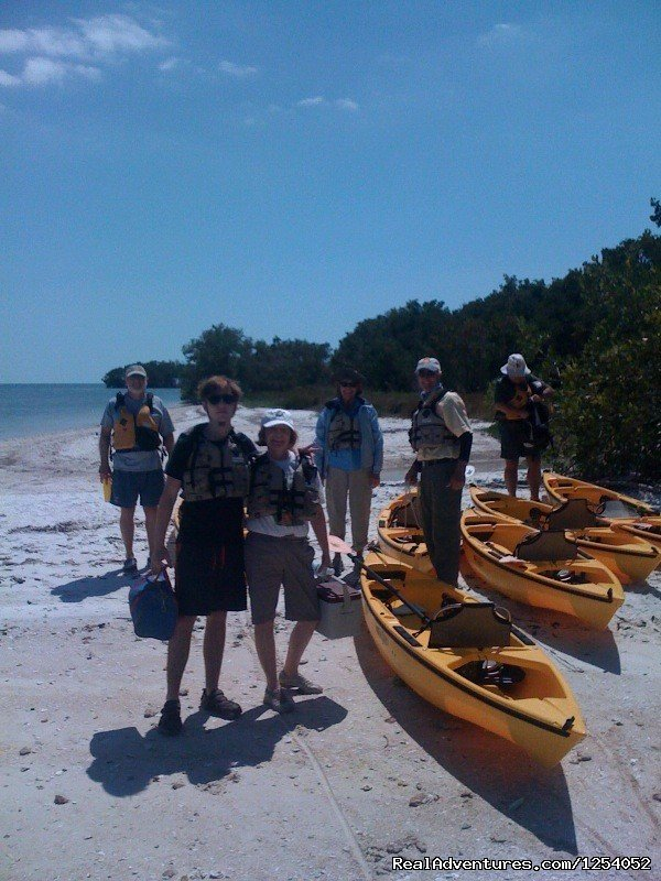 Outfitted base camp at Mormon Key | Image #11/12 | Everglades Nat'l Park - Boat Assisted Kayak Tour