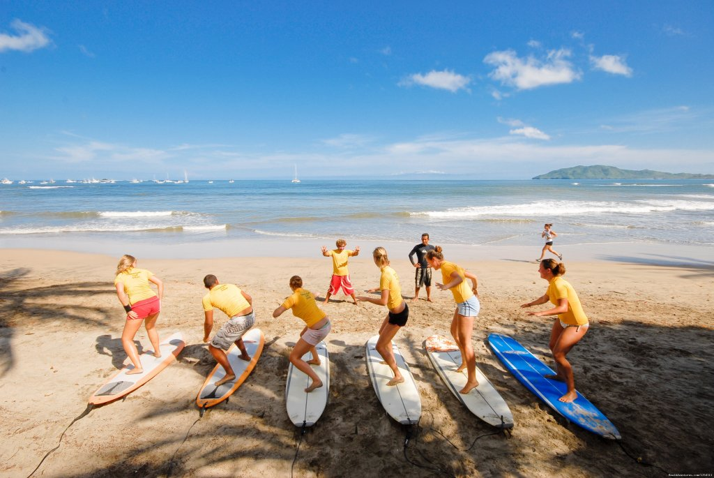 Students taking surf lessons | Image #6/11 | Learn Spanish at beautiful Tamarindo Beach