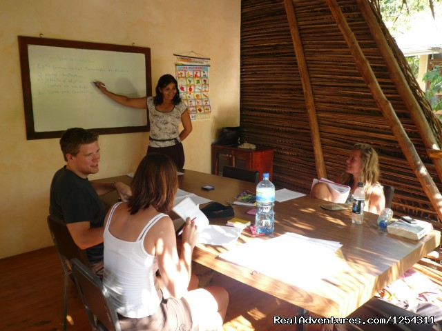 Classroom scene at WAYRA - Learn Spanish at beautiful Tamarindo Beach