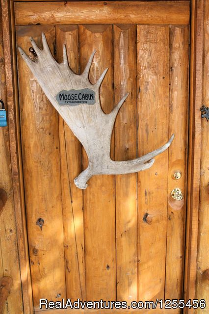Unique Lodging and Exciting Adventures in Alaska Moose Cabin - Entrance