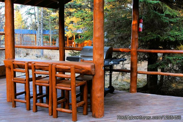 Unique Lodging and Exciting Adventures in Alaska Wise Old Hunter Lodge - Deck