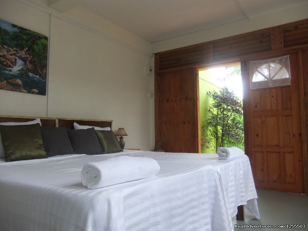 Serenity Lodges Dominica, a family atmosphere guesthouse with budget friendly accommodation with a breathtaking Mountian view. Located just 15 minute drive from the Melville Hall airport. Because your vacation can be affordable...