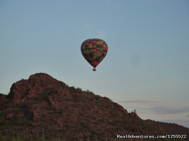 Over the Tucson Mountains - Tucson Balloon Rides