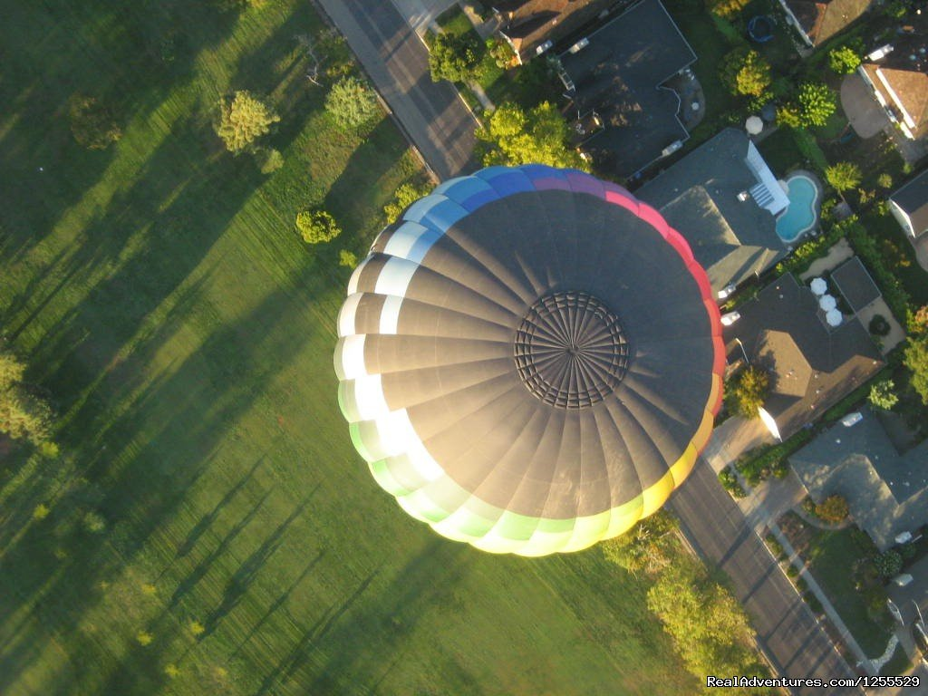 Birds Eye View of Calistoga - Napa Valley | Image #8/11 | Calistoga Hot Air Balloons of Napa Valley