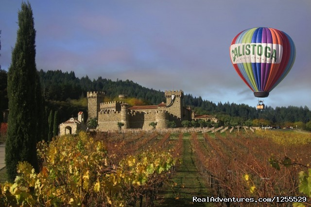 Calistoga Balloons Over Castello di Amorosa - Calistoga Hot Air Balloons of Napa Valley