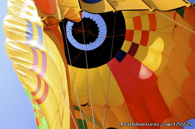 Inflation of the Balloons - Calistoga Hot Air Balloons of Napa Valley