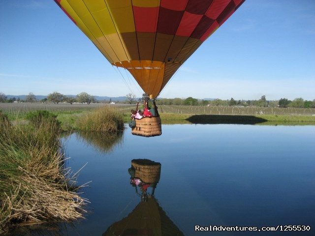 Kiss the water - Up & Away Ballooning