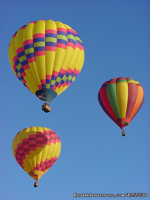 The three amigos - Up & Away Ballooning