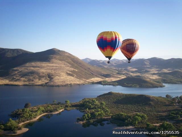A Grape Escape Hot Air Balloon Adventure Balloons over Lake Skinner
