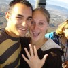 A Grape Escape Hot Air Balloon Adventure Newly engaged happy couple