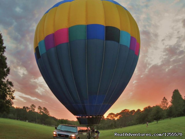 Hot Air Balloon at Sunrise - Hot Air Balloon Rides in St Augustine, FL