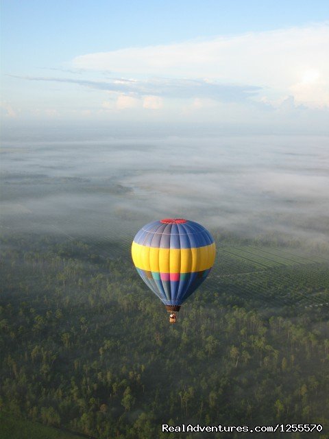 Romantic, Sunrise, Champagne Hot Air Balloon Rides Floating High Above St Augustine, FL