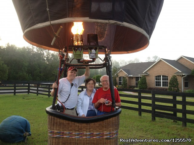 Fun for the young and young at heart - A Hot Air Balloon Ride in St Augustine, FL
