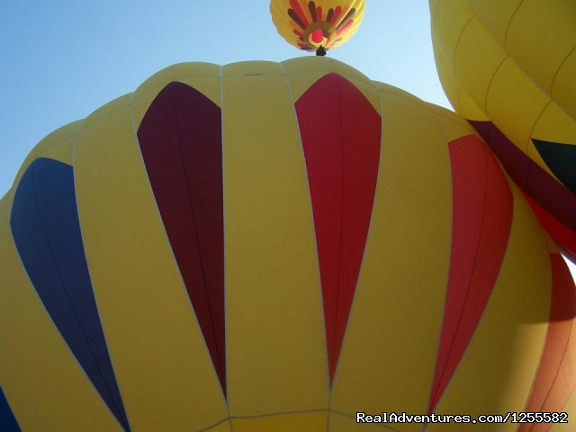 Inflated at balloon rally - Magic Carpet Ride Balloon Adventures