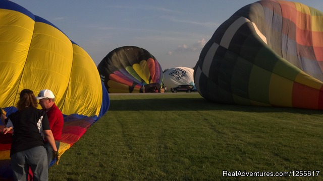 Airing up the fleet - Gentle Breeze Hot Air Balloon Company, ltd
