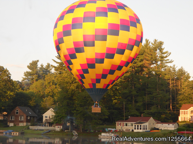 A& a Balloon Rides: Flying over the Lake