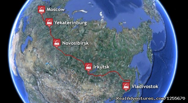 Baikal Transsib: Trans-Siberian All-Inclusive Tour: Tour Map