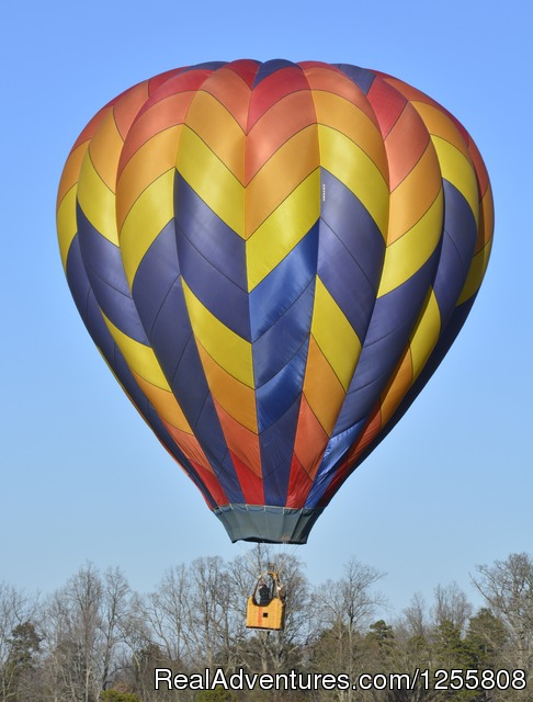 Yadkin Valley Balloon Adventures NC wine country