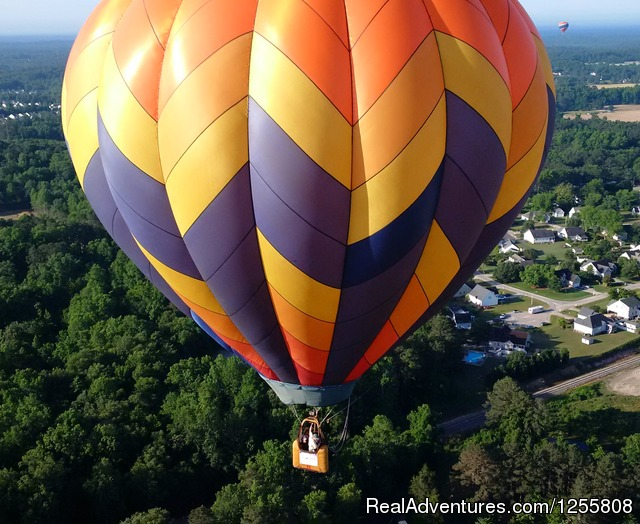Flying at Freedom Weekend Aloft, Memorial day. - Yadkin Valley Balloon Adventures NC wine country