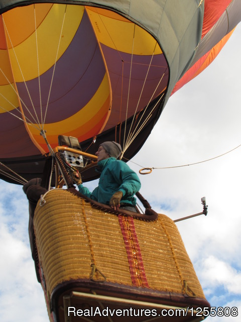 Up and away - Yadkin Valley Balloon Adventures NC wine country