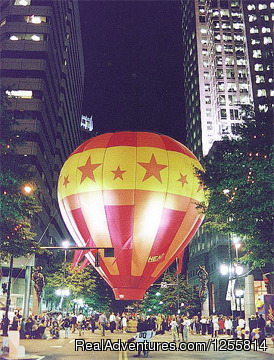 Downtown Charlotte, tether for United Way celebration - Big oh Balloons, Private Champagne Balloon Flights
