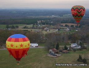 Flying over the countryside near Statesville NC - Big oh Balloons, Private Champagne Balloon Flights