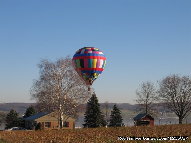Winter flight (#3 of 6) - Sky Riders Balloon Team