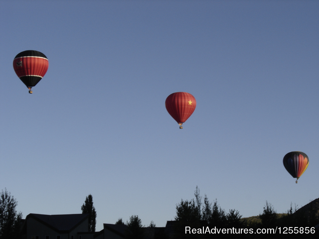 Low over Park City Golf Course (#4 of 6) - Morning Star Balloons