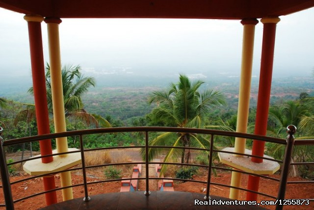 View from balcony of Uthradam Resort - Top luxury resort in Ezhimala, Kerala, India