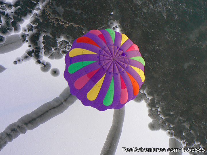 Hudson Hot Air Affair - Barney Balloon Over Ice