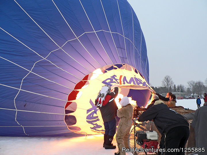 Hudson Hot Air Affair - Balloon Inflates