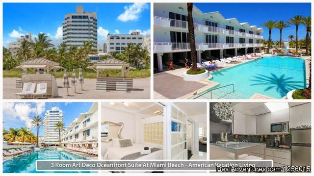 3 Room Art Deco Oceanfront Suite at Shelborne Miami Beach, Florida Vacation Rentals