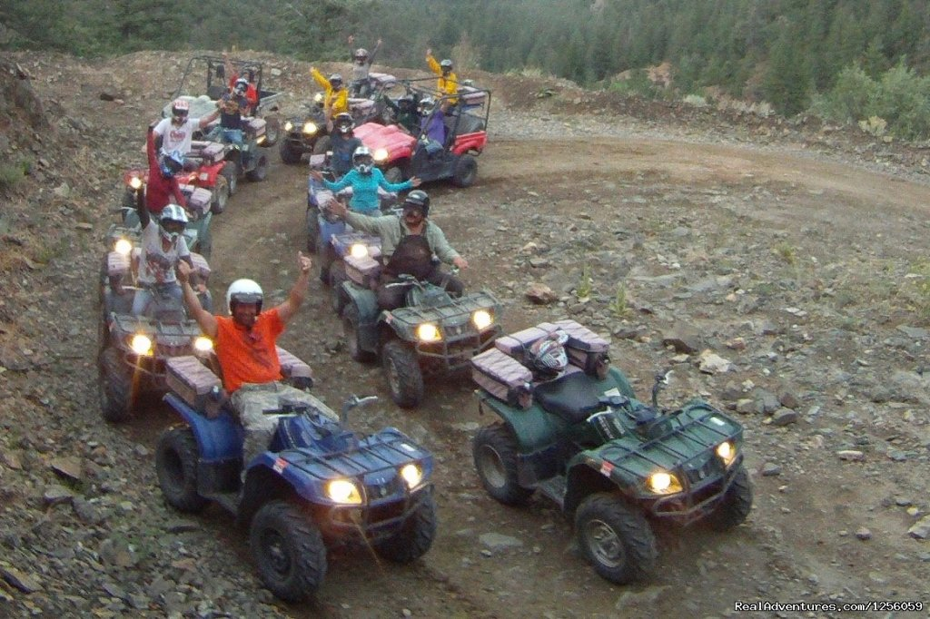 Come out to Texas Creek Colorado, experience a 2-hour, 3-hour or 4- hour guided tour. Bring the whole family we have atv's,  2 seater UTV's and 4 Seater UTV's.  The views are breathtaking and the enjoy the thrill of trail riding in the Rockies.