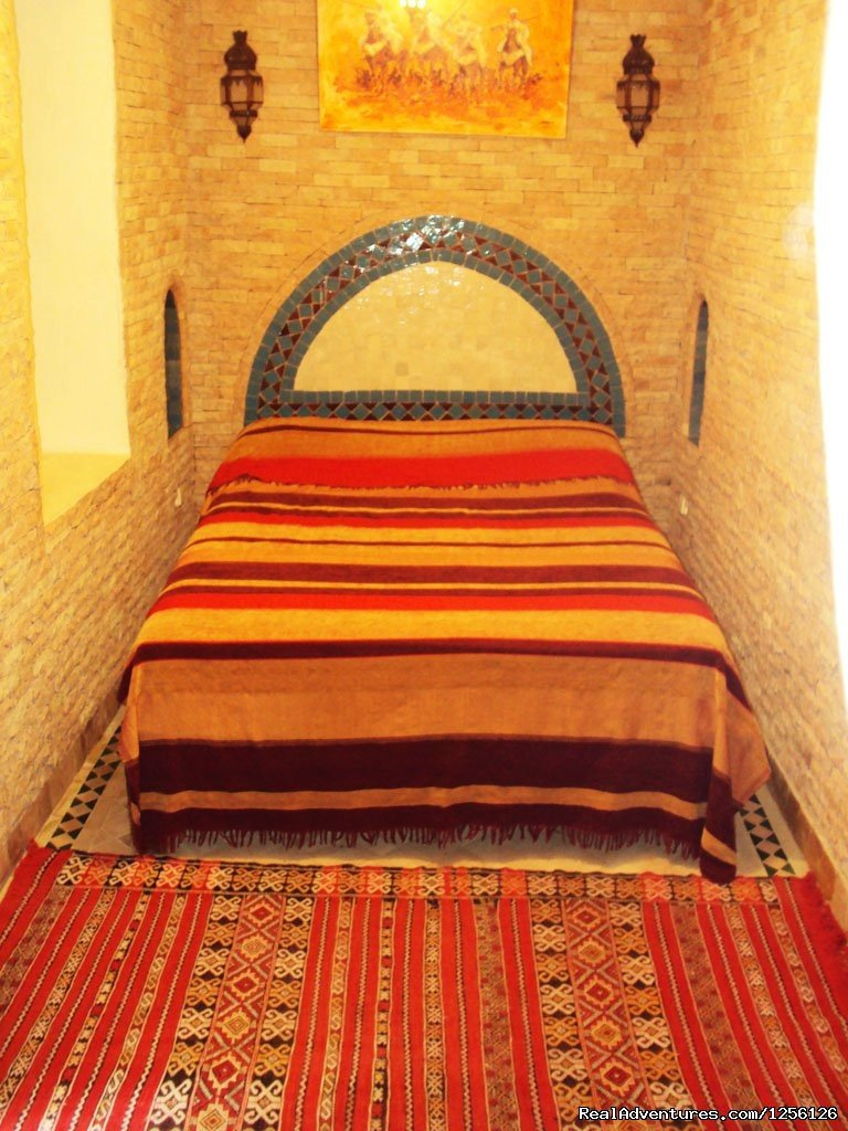 This jewel of a home Dar Salama is hidden on a narrow, quiet cul-de-sac in the heart of the ancient Moorish city of Marrakech. It is a world far removed, though close to the modern part of town, just a short flight from anywhere in Europe.