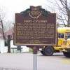 The Ohio historic marker at Ohio Caverns