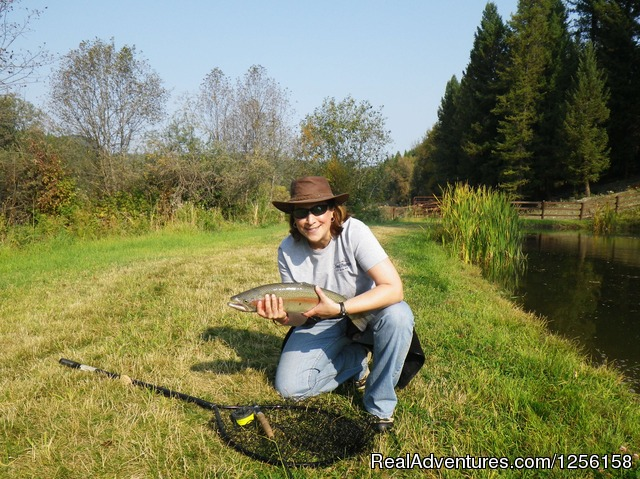 Fishing for trout - Bar W Guest Ranch