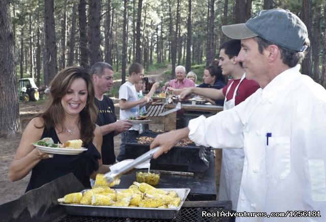 A fantastic cook-out in the woods - Colorado Trails Ranch, Colorado's Friendliest