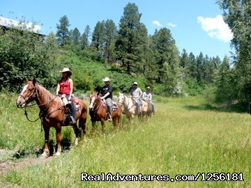 Kids off for another riding adventure - Colorado Trails Ranch, Colorado's Friendliest