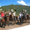 An extended family gets together at Colorado Trails