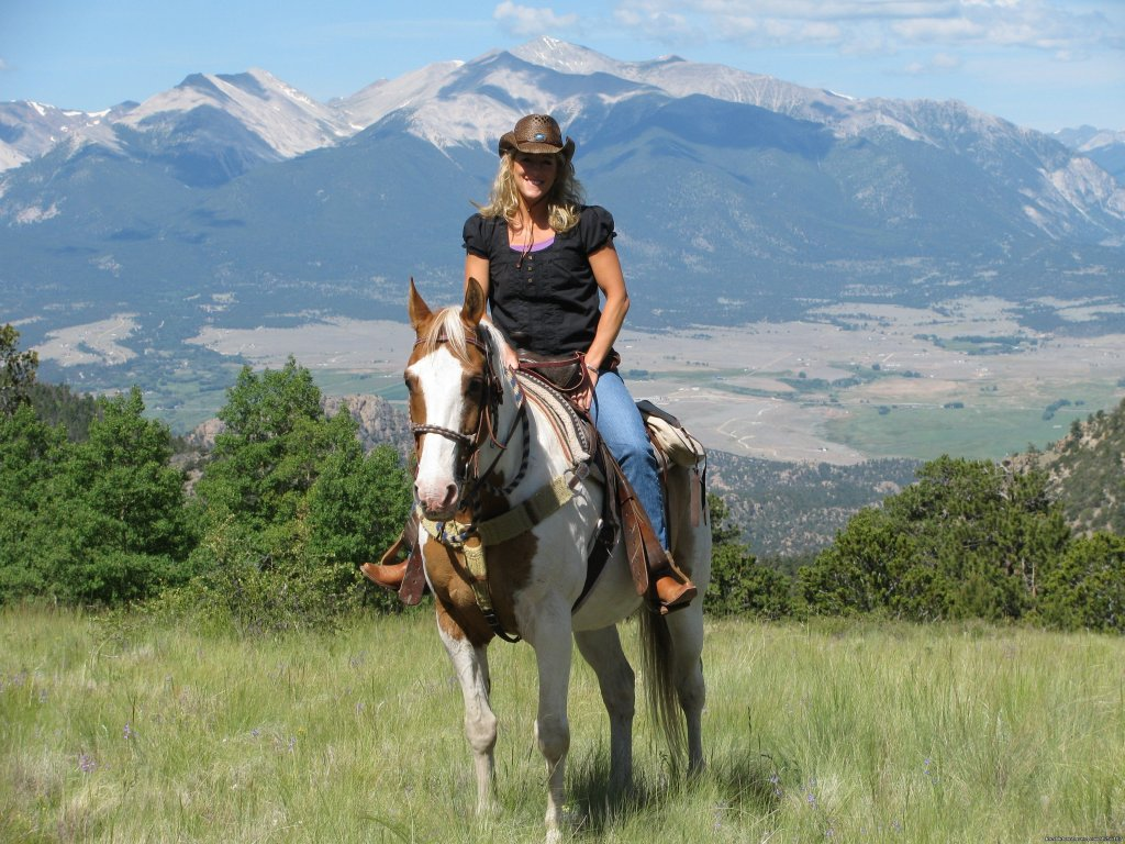 Remote dude ranch offering a weekly inclusive package.  Home-cooked meals, comfy lodging and the best activities that Colorado has to offer - horseback riding, rafting, marksmanship, trapshooting, archery, van trip to Aspen, hayride, hiking, fishing.