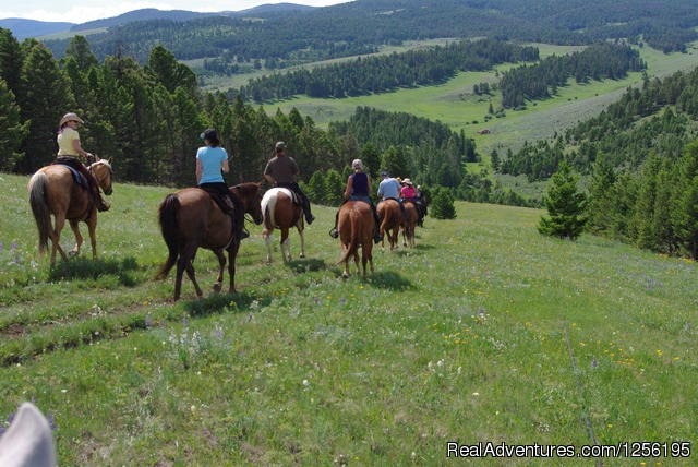 The beautiful country side just goes on and on. - Bonanza Creek Guest Ranch