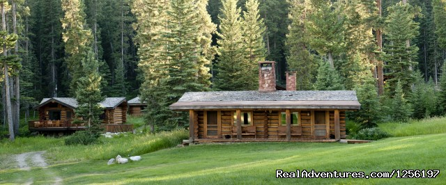 Accommodations include Log Cabin - Lone Mountain Ranch