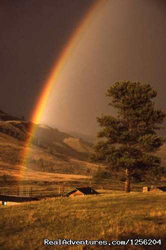Rainbow over the Lodge - Nine Quarter Circle Ranch - Montana Adventure
