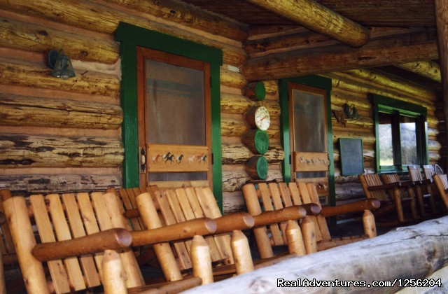Front Porch of Lodge - Nine Quarter Circle Ranch - Montana Adventure
